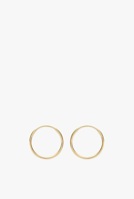 Stella and Bow Olivia Endless Hoop Earrings - 14k Yellow Gold