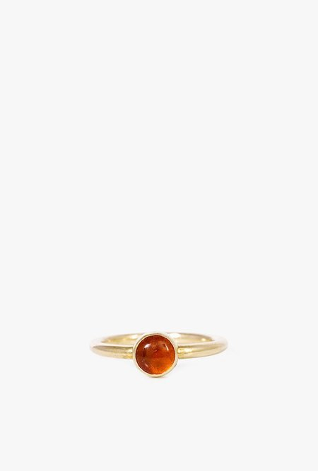 I Like It Here Club Amber Aura Ring - BRASS