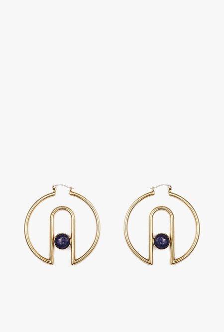 Artifacts Arch Hoop Earrings - Brass
