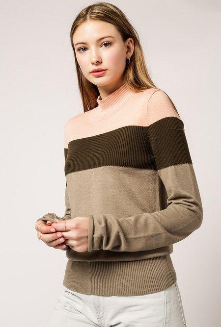 AGAIN Crimson Sweater - FOREST