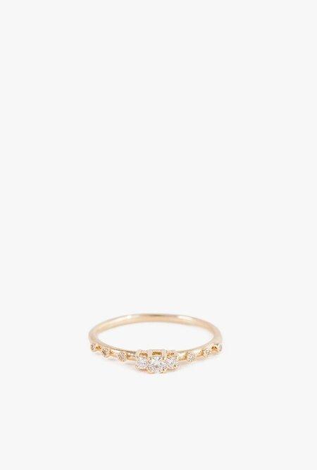 Jennie Kwon Diamond Beacon Ring - 14K GOLD/WHITE DIAMOND