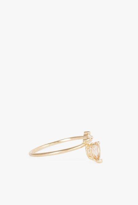 Lumo Emilia Morganite Ring - 14k Yellow Gold