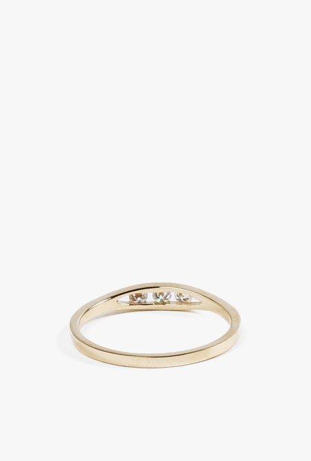 Jennie Kwon Flat Diamond Ring - 14K GOLD/WHITE DIAMOND