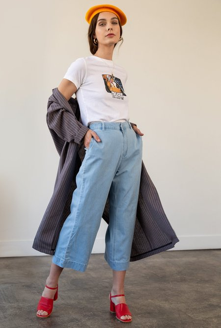 RES Denim Insider Crop Wide Jean - BARRIER