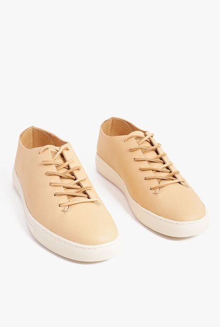 Clae One Piece Leather Shoe - Tan