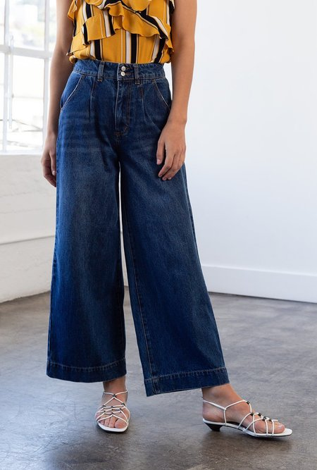 RES Denim Oscar Crop Wide Jean - Indigo