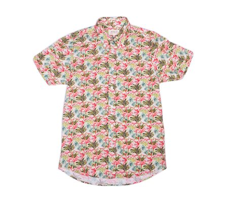 Clark Street Mercantile X Far Afield Mercantile Shirt - Brighton Flamingo