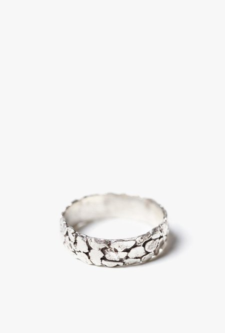 Blair Lauren Brown Thinner Nugget Band Ring - STERLING SILVER