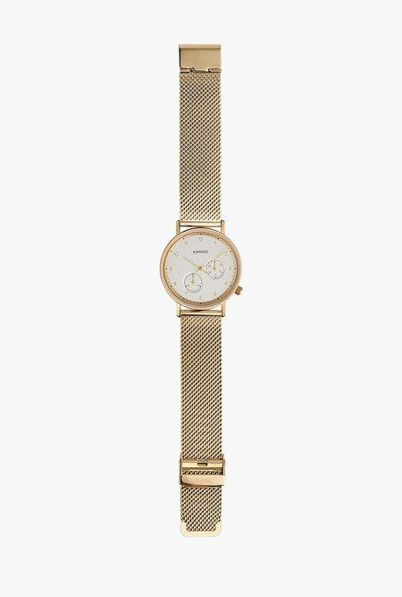 KOMONO Walther Watch - Gold Mesh