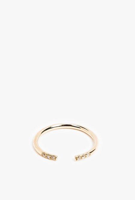 Jennie Kwon White Equilibrium Cuff Ring - ROSE GOLD