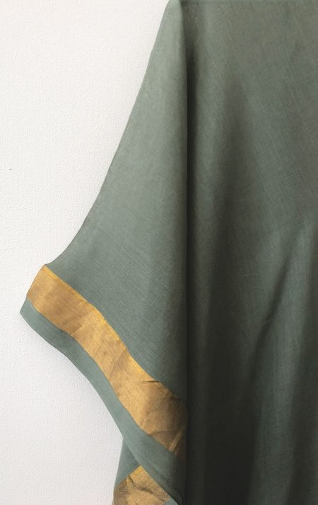 Two Caftan - Army Green/Gold