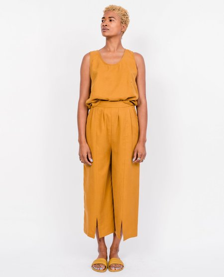 Eve Gravel Lac Noir Pants - Ochre
