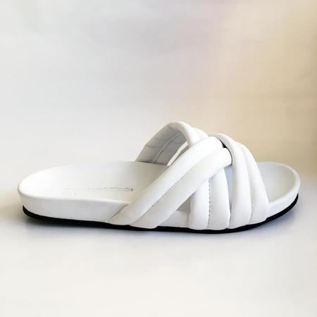 Slow and Steady Wins the Race Triple Strap Slide - White