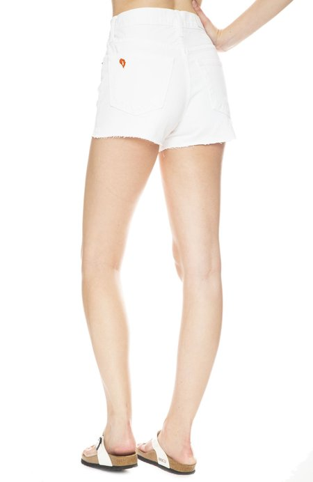 SOLID & STRIPED X RE/DONE Hollywood High Waisted Short - White