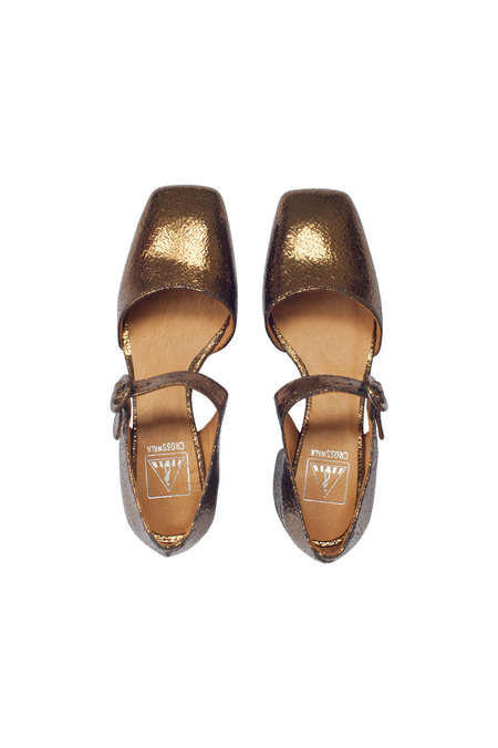 Crosswalk Bronze Dream Shoes - Crackle Bronze