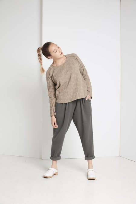 Black Crane Carpenter Pant - DARK GREY