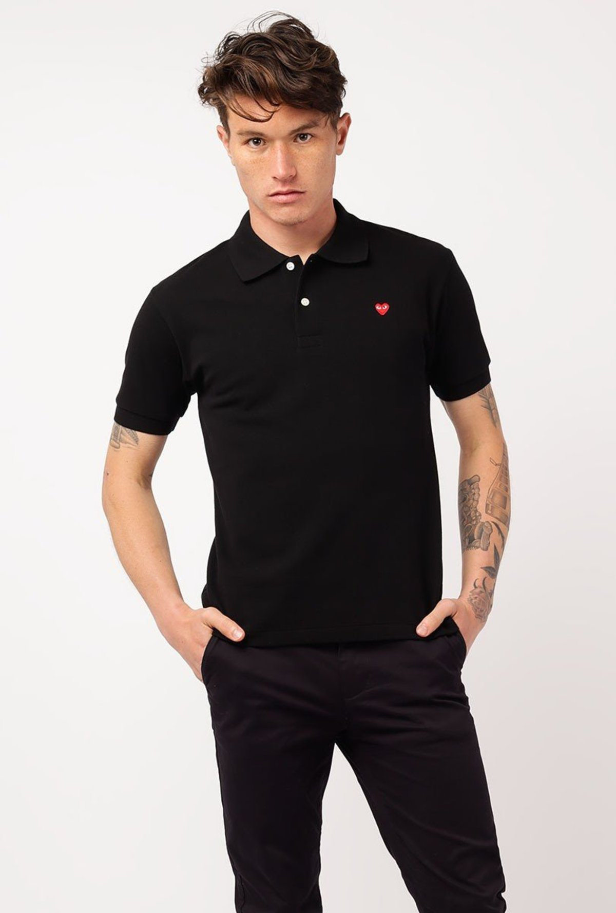 f48c649b4d2c Comme des Garçons Play Polo Shirt - Black