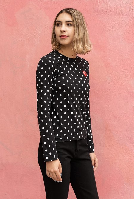 Comme des Garçons Polka Dot L/S T-Shirt