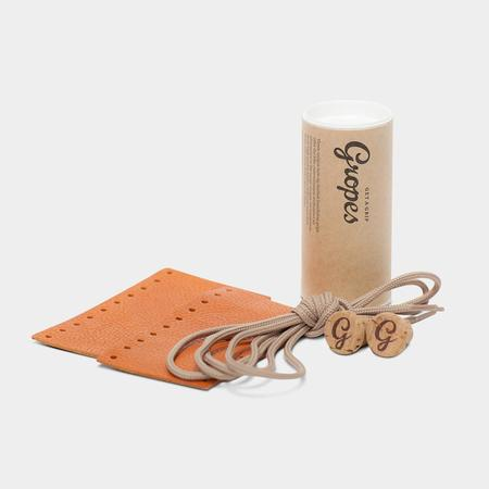 Nonusual Short Leather Grips - Honey