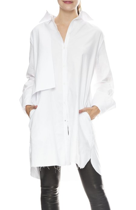 Margaux Lonnberg Soto Shirt Dress - White
