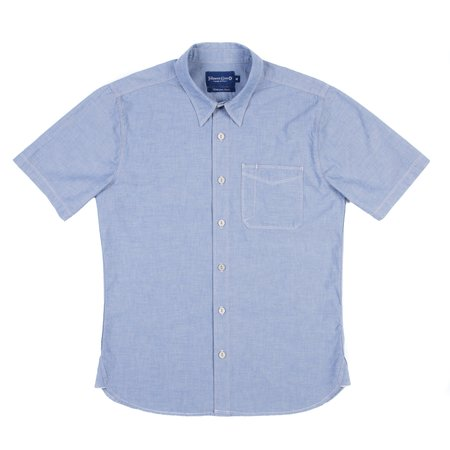 Freenote Cloth Freenote Parker Short Sleeve Shirt - Blue Chambray