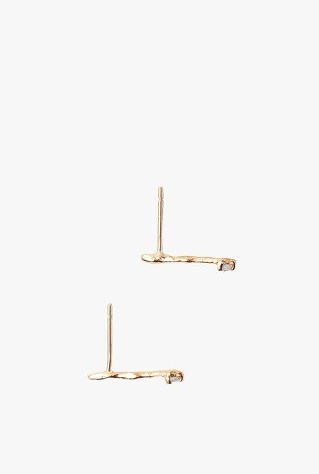 Valley Rose Studio Vela Earrings - Gold/Opal