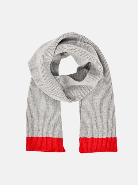 Country of Origin 1X1 SCARF - GREY/RED