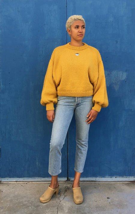 I love Mr Mittens Jackie Wool SWEATER - Mustard