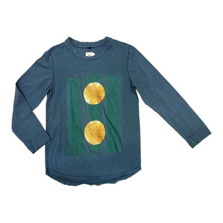 KIDS Nico Nico Beams Long Sleeved Tshirt - Space Blue