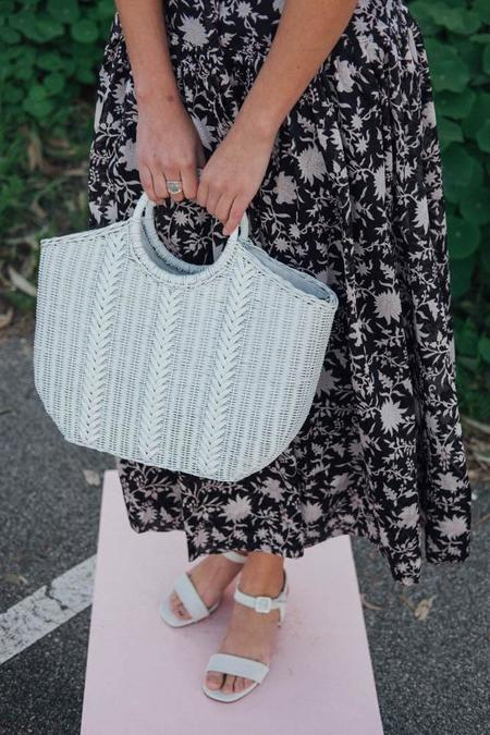 Ulla Johnson Amyris Mini Wicker Tote - Blanc