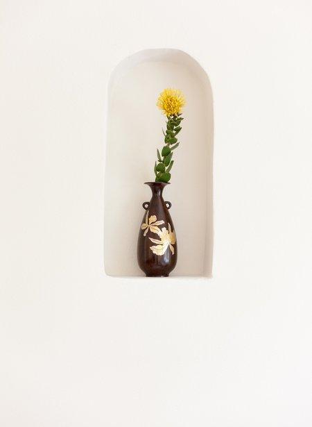Found + Collected Vintage Japanese Vase - Dark Brown