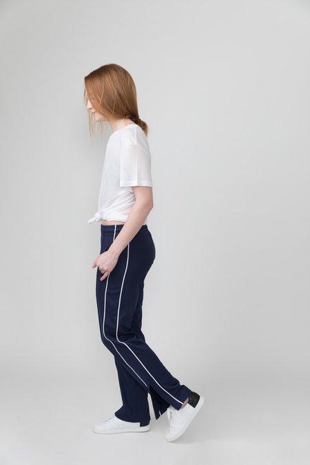 Anine Bing Wyatt Track Pant - Navy/White Stripe