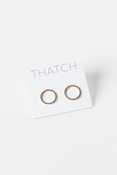 Thatch Cat Circle Stud Earring  - Gold