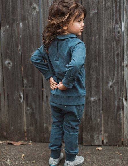 Kids Gray Label Jogger Set - Blue Grey