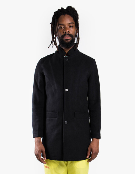 Han Kjøbenhavn Bankers Trench - Black Wool