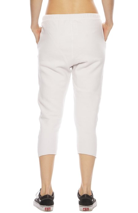 TEE LAB by FRANK & EILEEN Cropped Sweatpants - Dirty White
