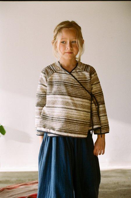 kids Boy+Girl Kimono Jacket - Brown Stripe