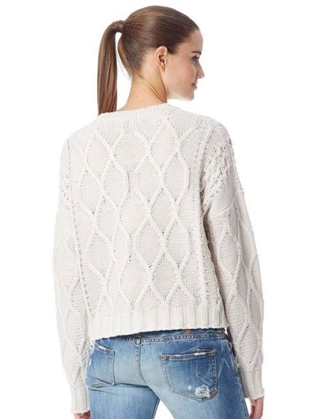 360 Cashmere Alice Cable Knit sweater - Marble