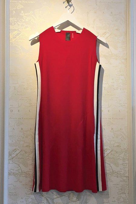 Norma Kamali Side Stripe Swing Dress