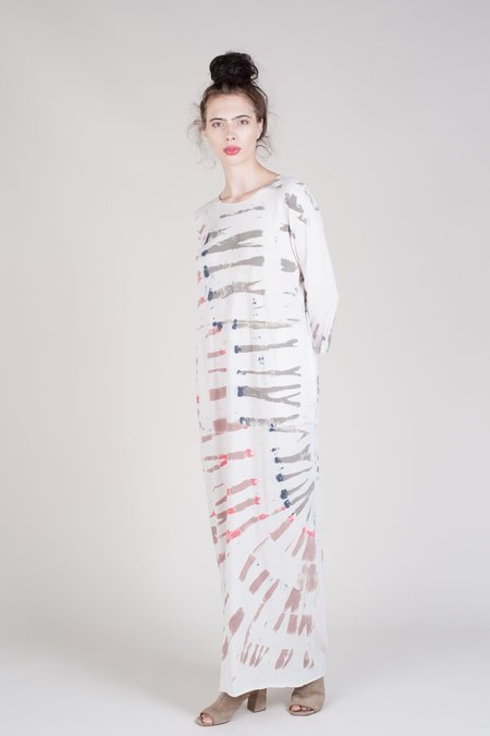 Raquel Allegra Half Sleeve Caftan Dress - White Mountain