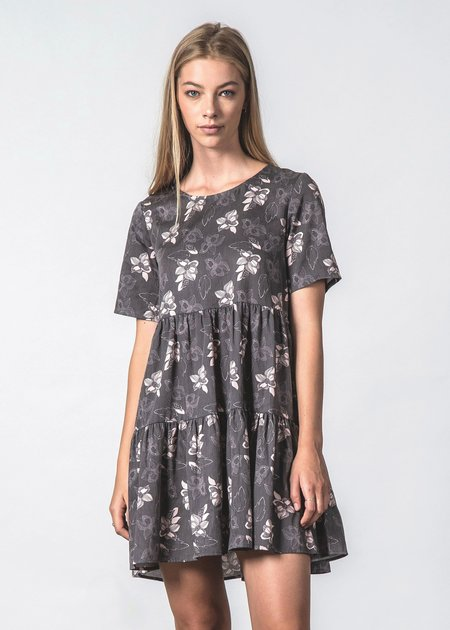 Thing Thing Undercover Dress - Black Botanic
