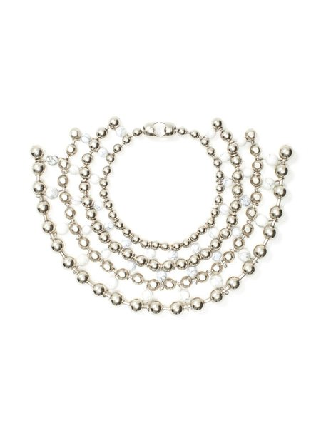 We Who Prey Marble Multiverse Ball Chain Collar - STAINLESS STEEL