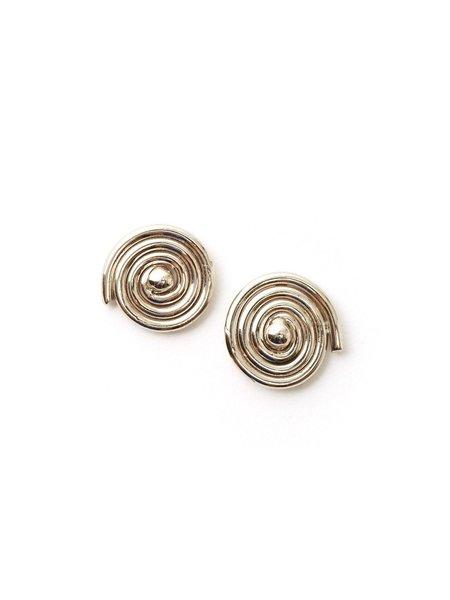 We Who Prey Medium Radial Spiral Earrings
