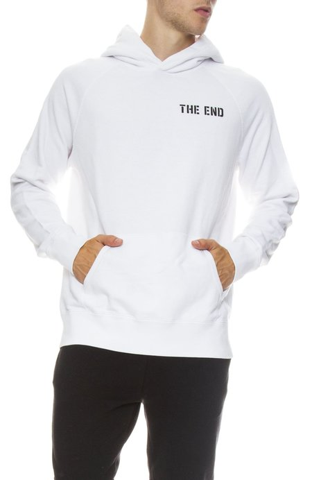Hiro Clark The End Pullover Hoodie - White