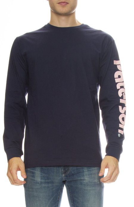 PATERSON Long Sleeve Logo Tee - Navy