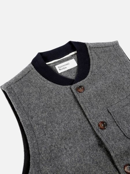 Universal Works Chore Waistcoat - Mowbray Charcoal