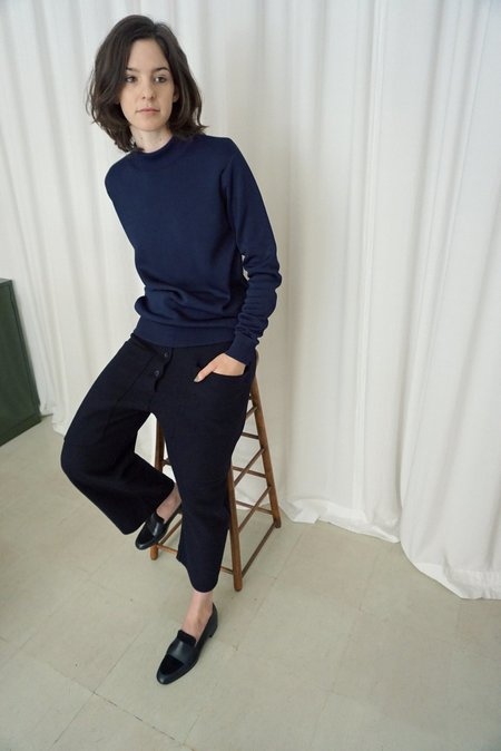 STUDIO NICHOLSON STUDIO KNIT SWEATER - NAVY
