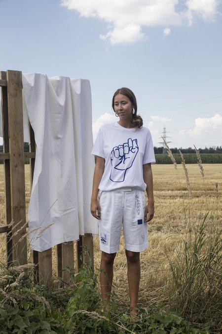 Projekt Eva Vintage Modern Cotton T-Shirt - White