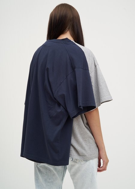 Y/project Double T-Shirt - Grey/Navy