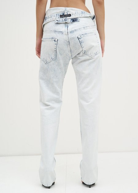 Y/project Asymmetric Waist Jeans - White Stonewash
